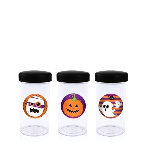 Potinho para doces com tampa Halloween - Tudo para festa Halloween