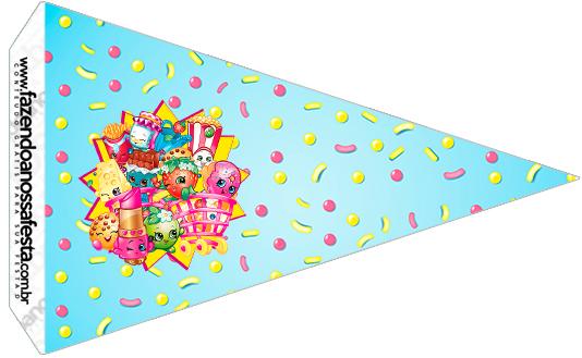 Bandeirinha Sanduíche 2 Shopkins Azul