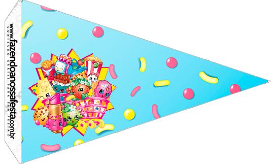 Bandeirinha Sanduíche 4 Shopkins Azul