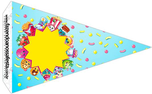 Bandeirinha Sanduíche 5 Shopkins Azul