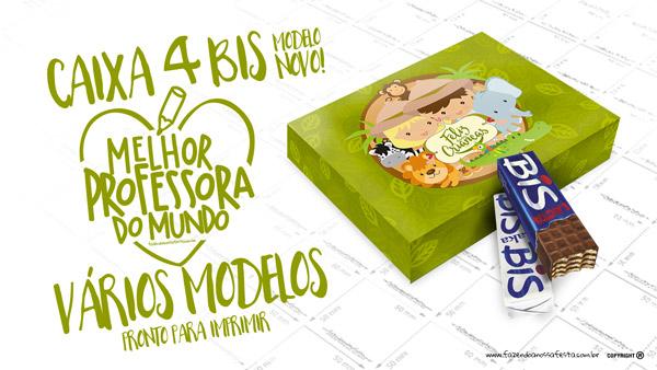 Caixa 4 Bis Dia das Crianças Safari Modelo
