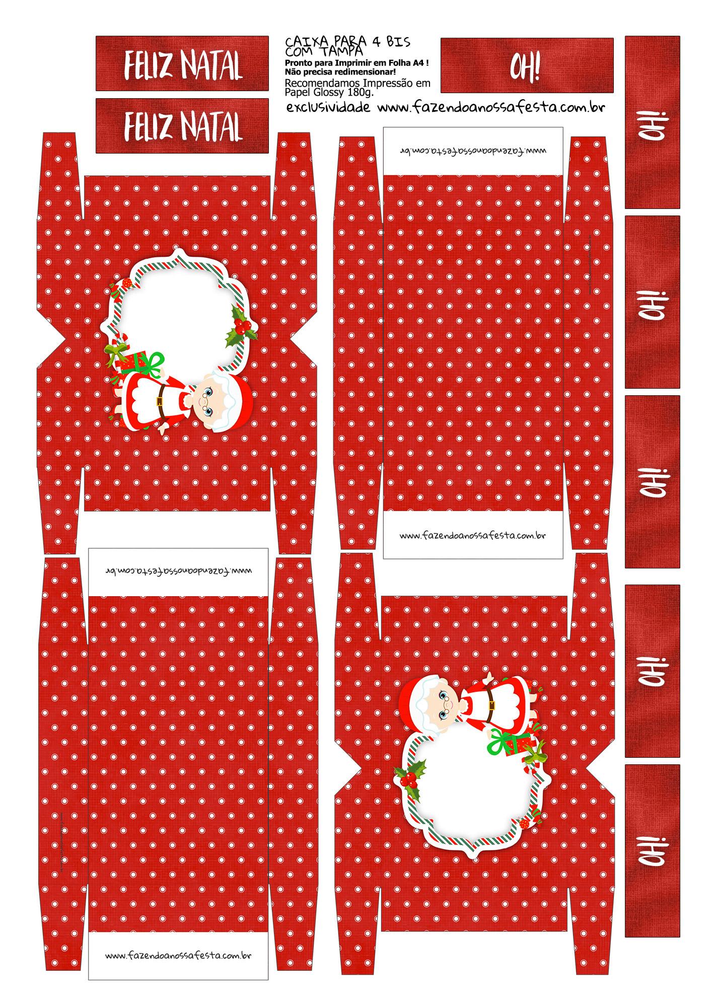 Caixa 4 Bis Especial Natal Mamãe Noel