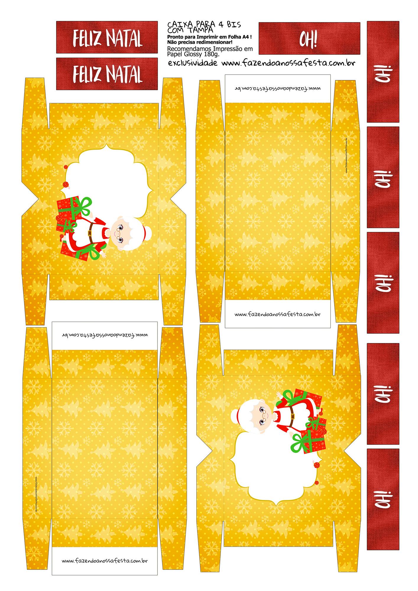 Caixa 4 Bis para Natal Mamãe Noel
