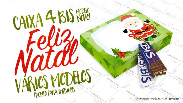 Caixa 4 Bis Para Natal Pronta Para Imprimir