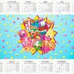 Calendário 2016 Shopkins Azul