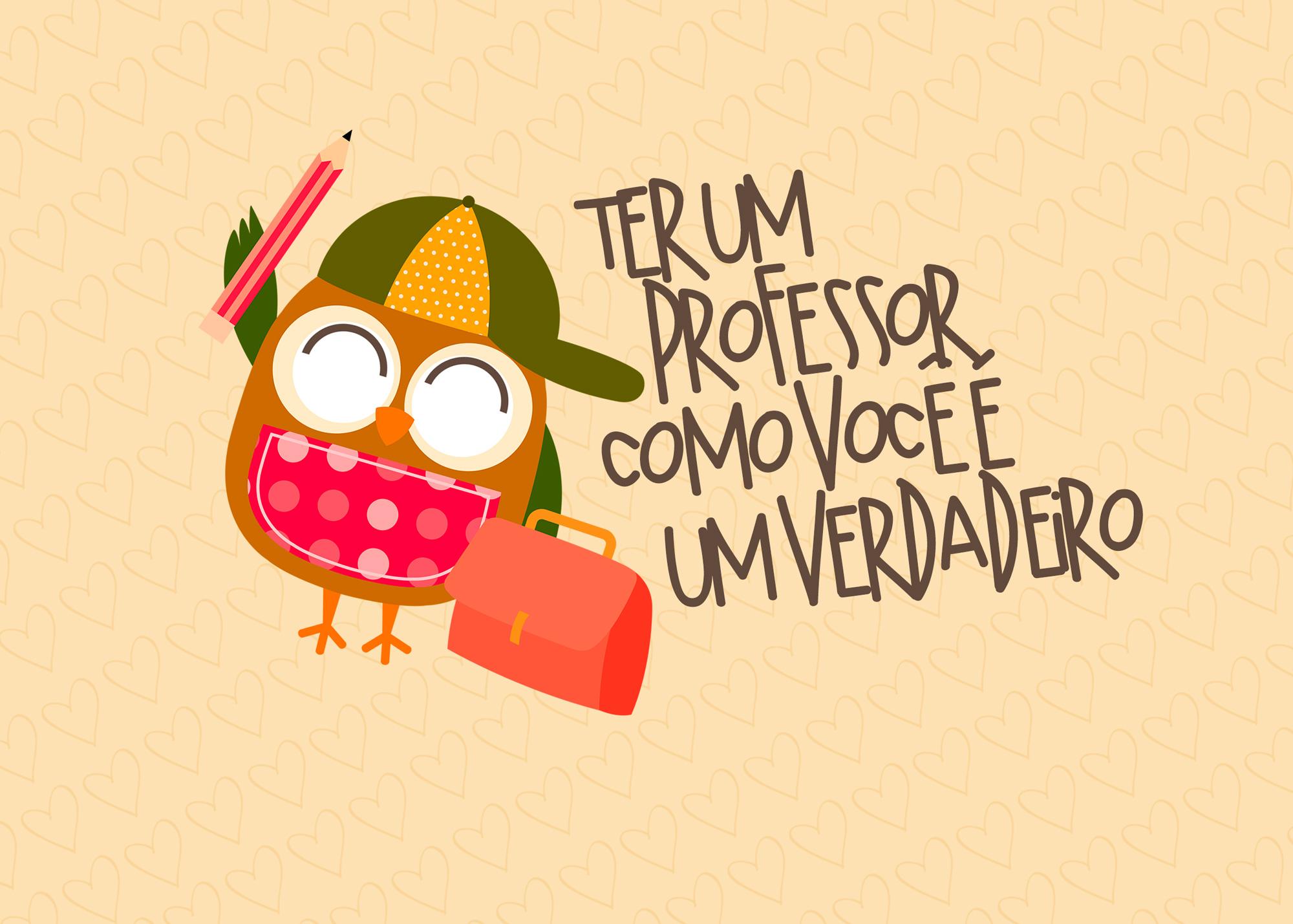 Cartão Prestígio para Dia do Professor