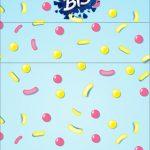 Convite Bis Duplo 3D Shopkins Azul