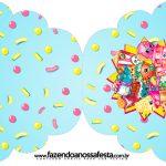 Convite Cupcake Shopkins Azul