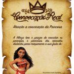 Convite Pergaminho Princesa Moana 2