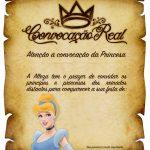 Convite Pergaminho Cinderela 2