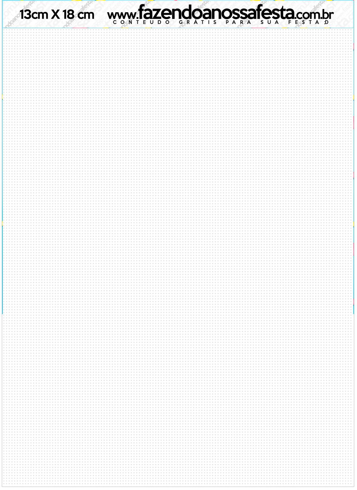 Convite com Envelope Shopkins Azul