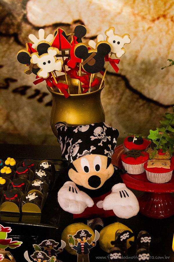 Cupcakes e Doces Festa Mickey Pirata para Inspiração