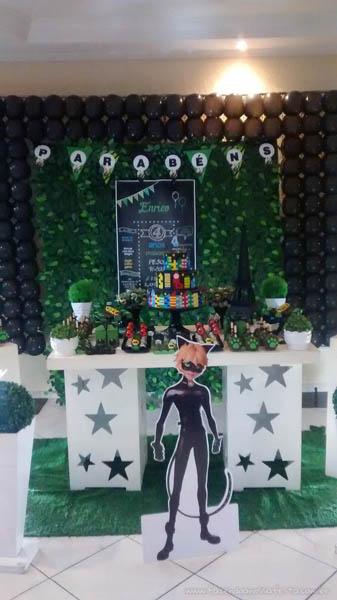 Decoração Festa Cat Noir do Enrico