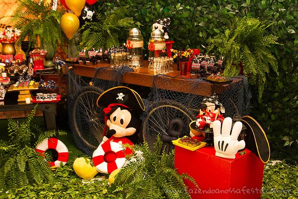 Detalhes Festa Mickey Pirata para Inspiração
