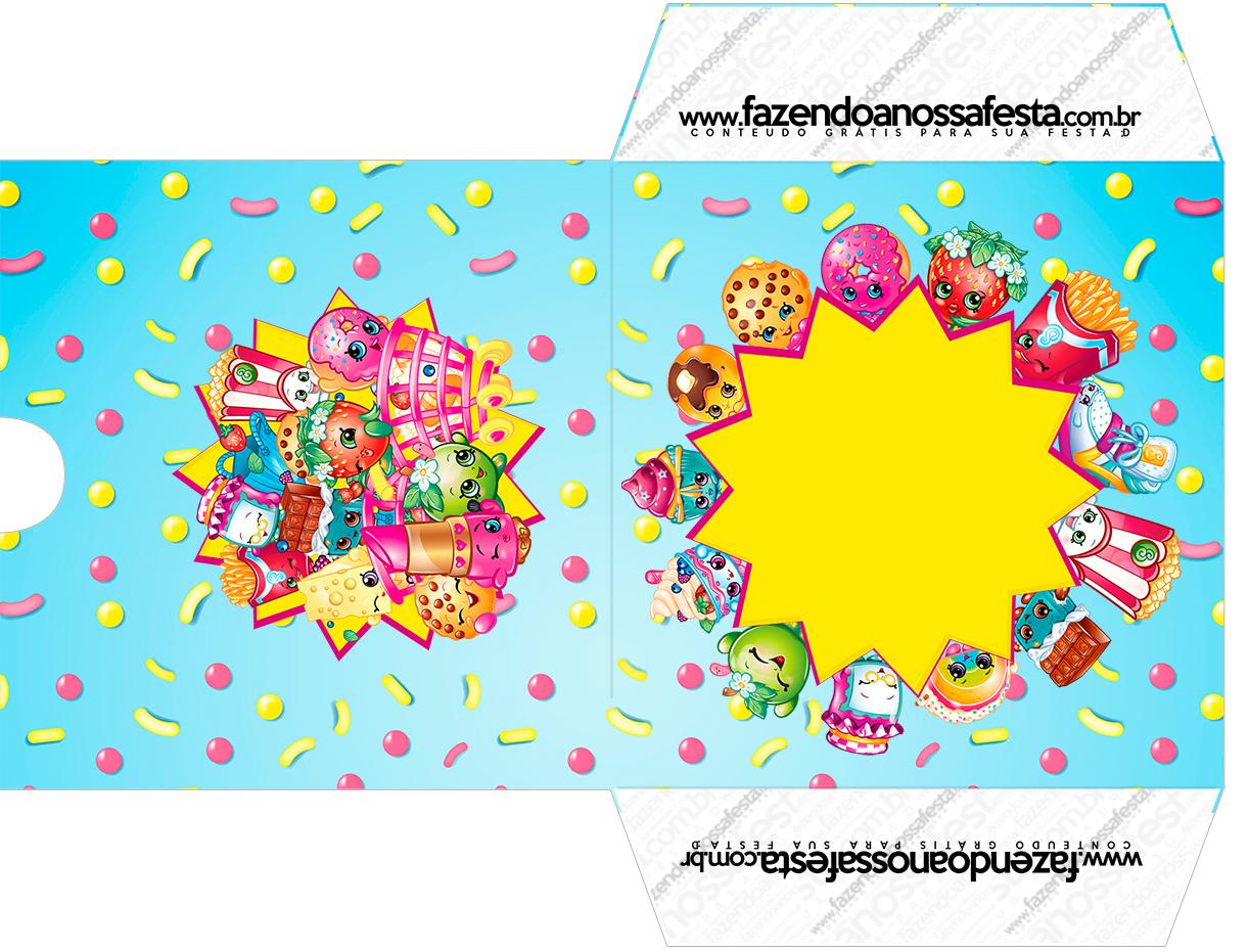 Envelope CD DVD Kit Festa Shopkins Azul
