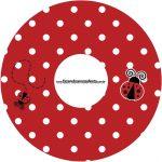 Etiqueta CD DVD Joaninha