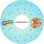 Etiqueta CD DVD Shopkins Azul