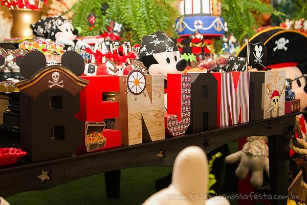 Festa Mickey Pirata para Inspiração