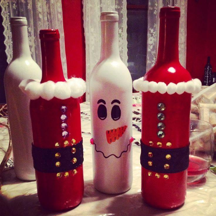 Garrafas decoradas para o Natal 6