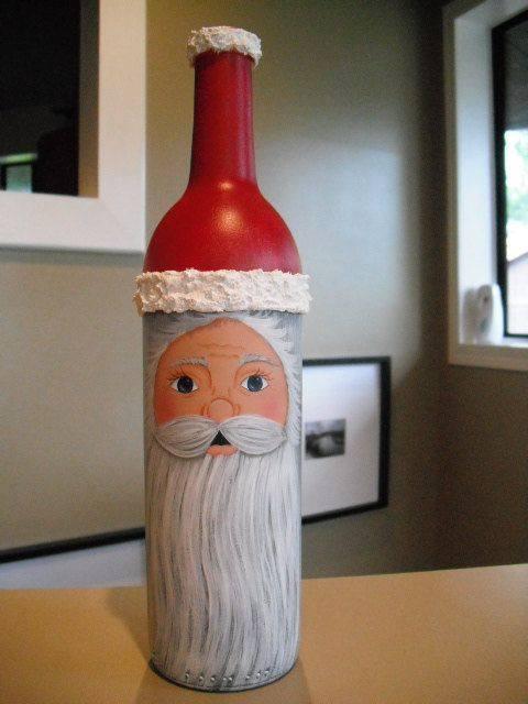 Ideia Garrafas Decoradas para o Natal 15