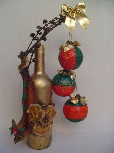 Ideia Garrafas Decoradas para o Natal 12