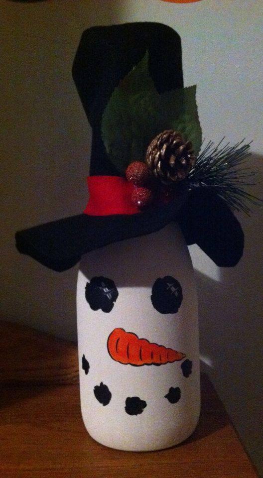 Ideia Garrafa decorada para o Natal 2