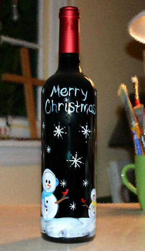 Ideia Garrafa decorada para o Natal 5