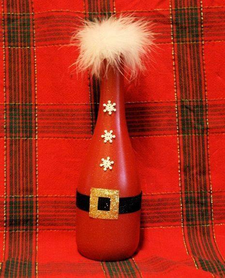 Ideia Garrafa decorada para o Natal 6