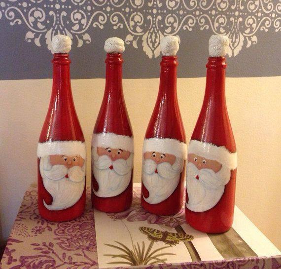 Ideia Garrafa decorada para o Natal 7