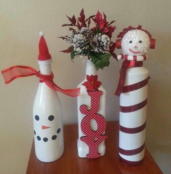 Ideia Garrafas Decoradas para o Natal 16