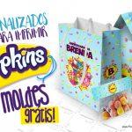 Kit Festa Shopkins Azul + de 140 Moldes para Imprimir