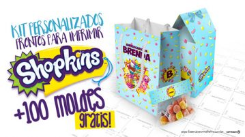 Kit Festa Shopkins Azul Modelo