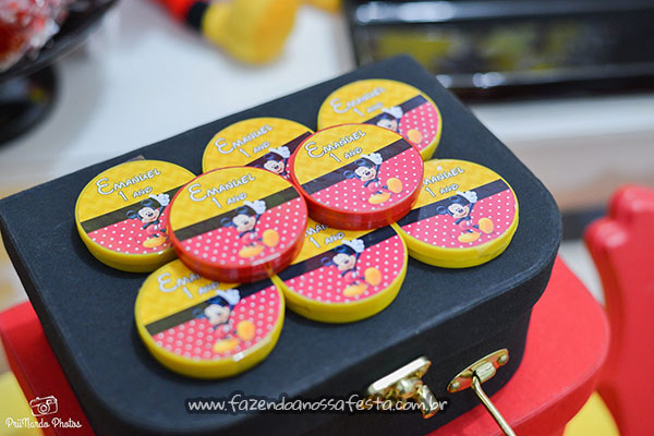 Latinhas Festa Mickey do Emanuel