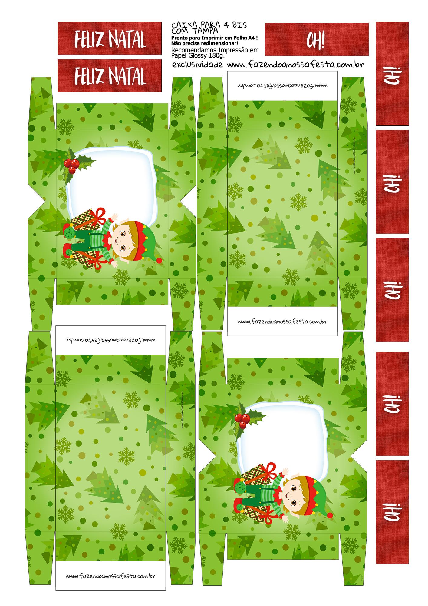Lembrancinha para Natal Caixa 4 Bis 2