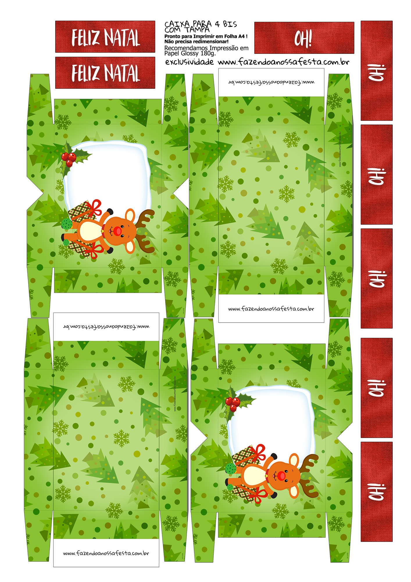 Lembrancinha para Natal Caixa 4 Bis 3