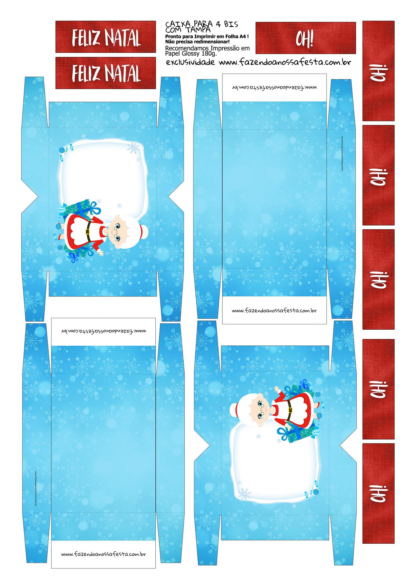 Lembrancinha para Natal Caixa 4 Bis 5
