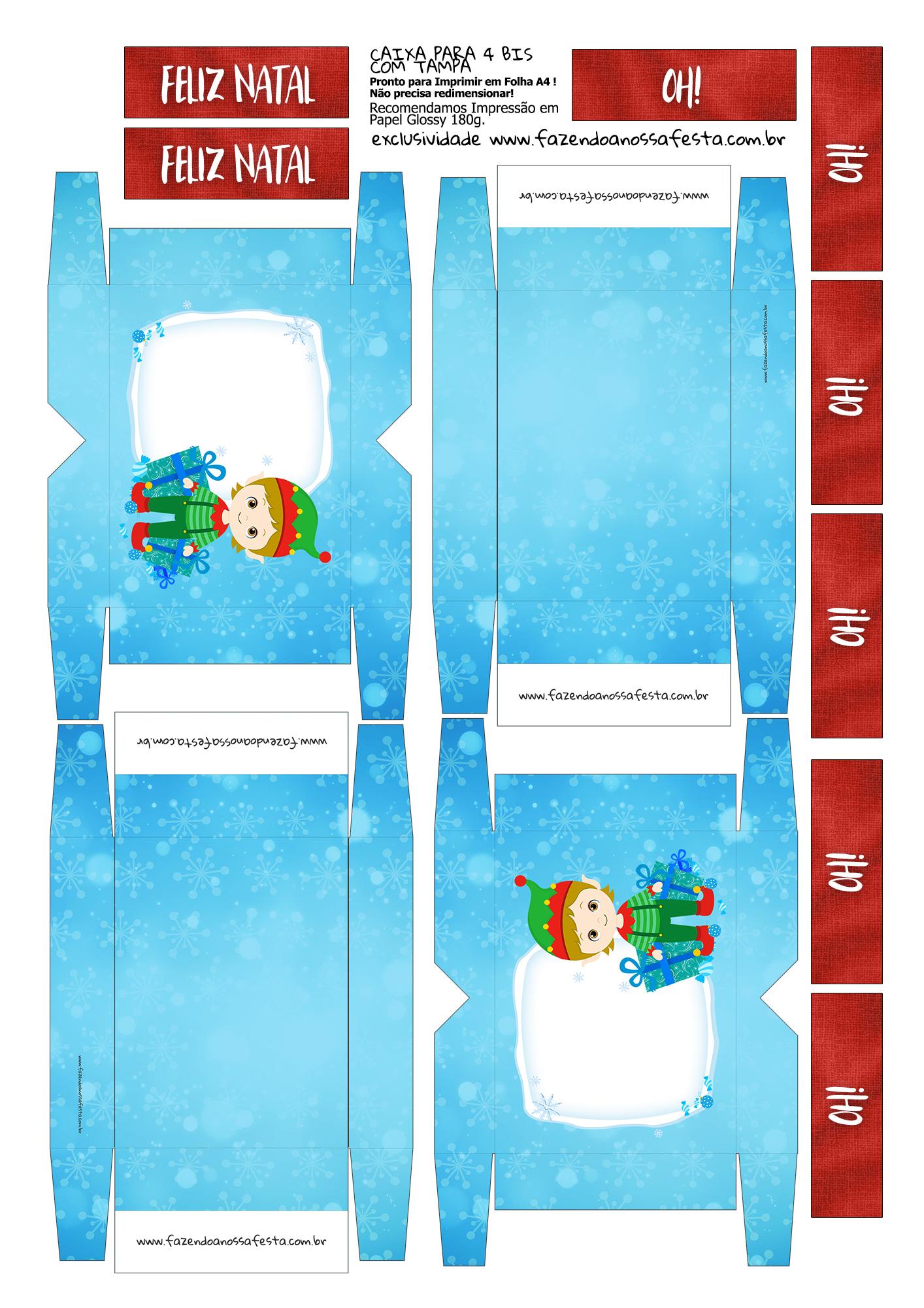 Lembrancinha para Natal Caixa 4 Bis 6