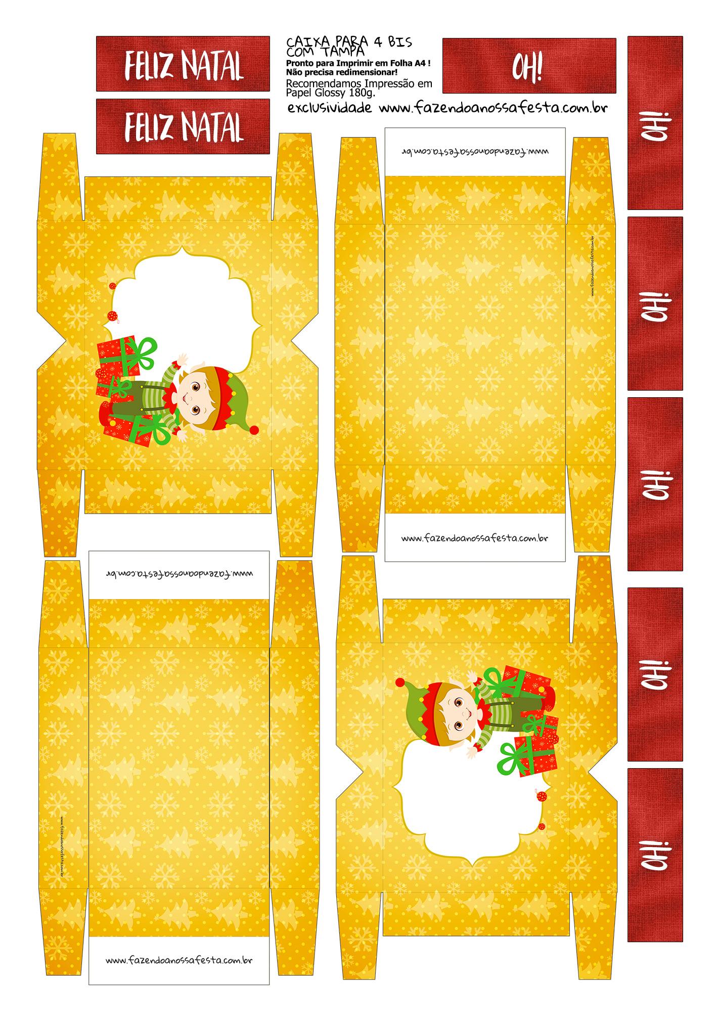 Lembrancinha para Natal Caixa 4 Bis 9