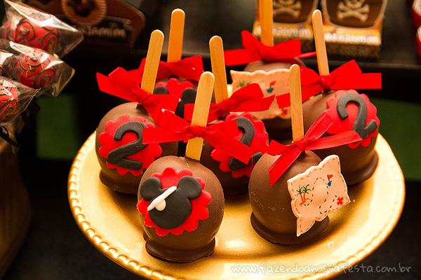 Maça do amor Festa Mickey Pirata para Inspiração