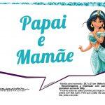 Plaquinhas Divertida Princesa Jasmine 13