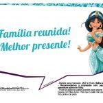 Plaquinhas Divertida Princesa Jasmine