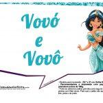 Plaquinhas Divertida Princesa Jasmine 17