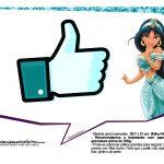 Plaquinhas Divertida Princesa Jasmine 18