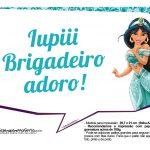 Plaquinhas Divertida Princesa Jasmine 3
