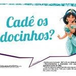 Plaquinhas Divertida Princesa Jasmine 4