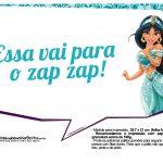 Plaquinhas Divertida Princesa Jasmine 5