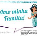 Plaquinhas Divertida Princesa Jasmine 6