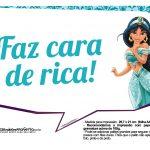 Plaquinhas Divertida Princesa Jasmine 8