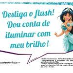 Plaquinhas Princesa Jasmine