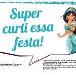Plaquinhas Princesa Jasmine 6